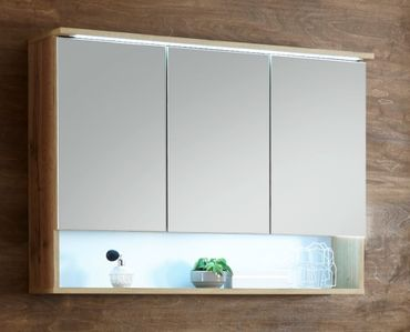 BEST Spiegelschrank inkl. LED-Beleuchtung Wildeiche – Bild 1