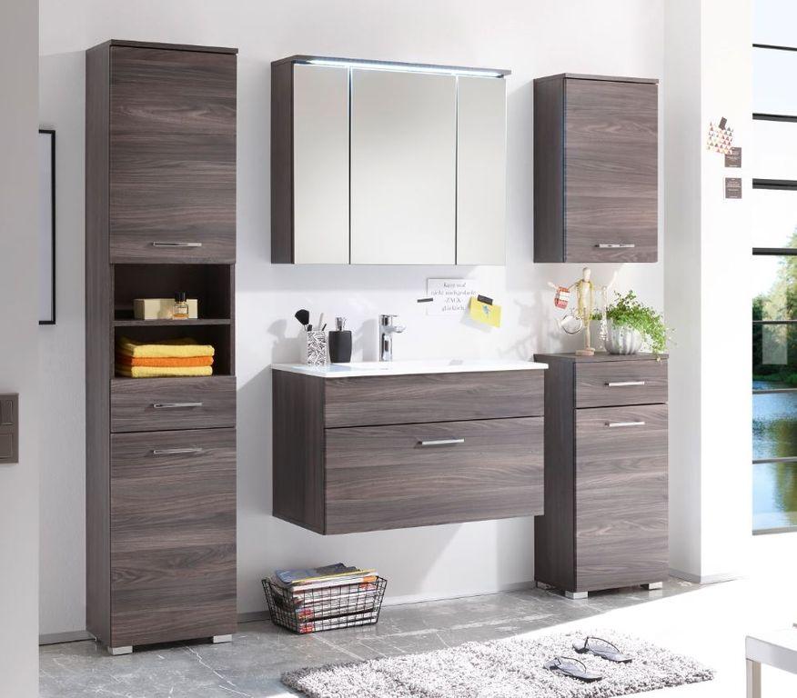 seattle badezimmer set 5 tlg braun sangallo bad. Black Bedroom Furniture Sets. Home Design Ideas