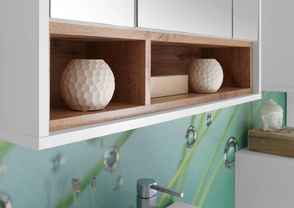 milano badezimmer set 3 tlg wei wildeiche bad badezimmer komplettsets. Black Bedroom Furniture Sets. Home Design Ideas
