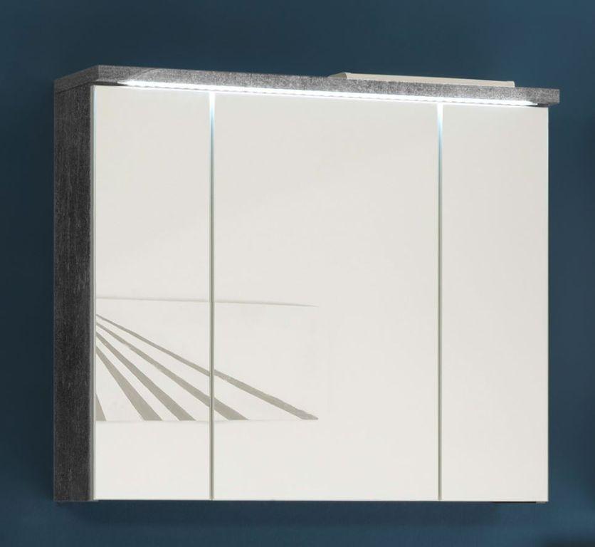 POOL Spiegelschrank inkl. LED-Beleuchtung Beton