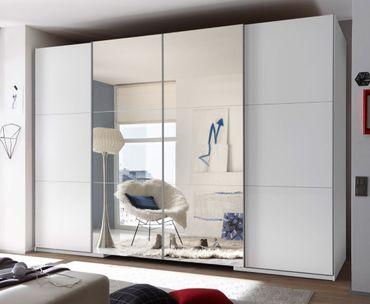 Big Schwebetürenschrank 315 cm Weiß – Bild 1