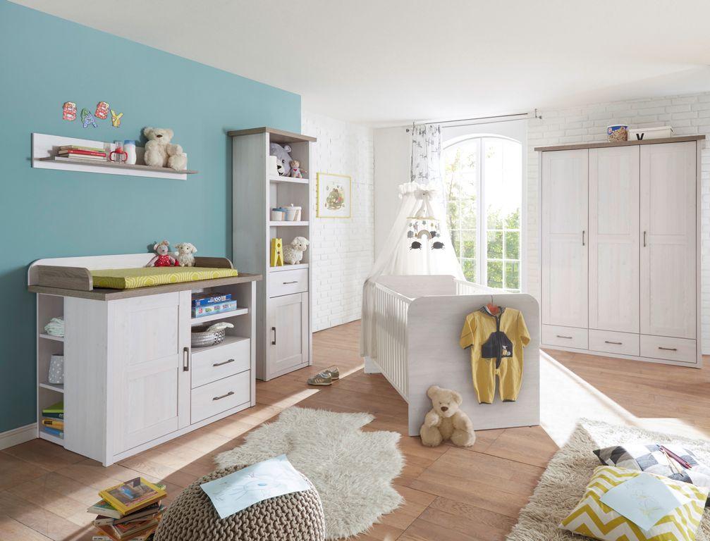 Luca 1 Babyzimmer Komplettset Pinie Weiß Trüffel Günstig Möbel
