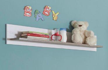 Luca 1 Babyzimmer Komplettset Pinie Weiß / Trüffel – Bild 9
