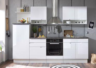 Sligo Küchenzeile Küchenblock Weiß Hochglanz MDF – Bild 1