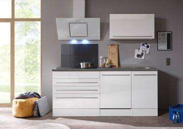 Jarklow Küchenzeile Küchenblock Weiß Hochglanz – Bild 4