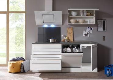 Jarklow Küchenzeile Küchenblock Weiß Hochglanz – Bild 3