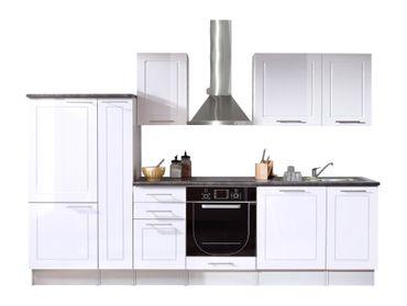 Wexford Küchenzeile Küchenblock Weiss Hochglanz – Bild 4