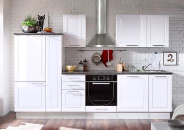 Wexford Küchenzeile Küchenblock Weiss Hochglanz – Bild 1
