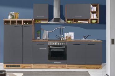 Mavan 310 Küchenzeile Küchenblock Anthrazit Wildeiche  – Bild 1