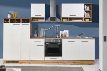 Mavan 310 Küchenzeile Küchenblock Weiß Wildeiche – Bild 1