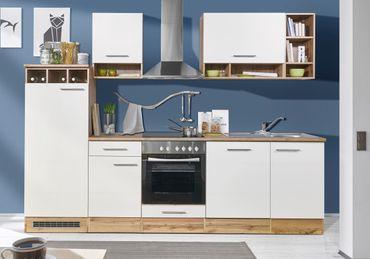 Mavan 280 Küchenzeile Küchenblock Weiss Wildeiche  – Bild 1