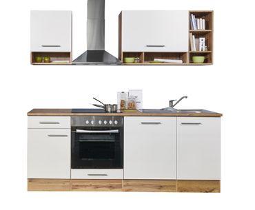 Mavan 220 Küchenzeile Küchenblock Weiss Wildeiche  – Bild 4
