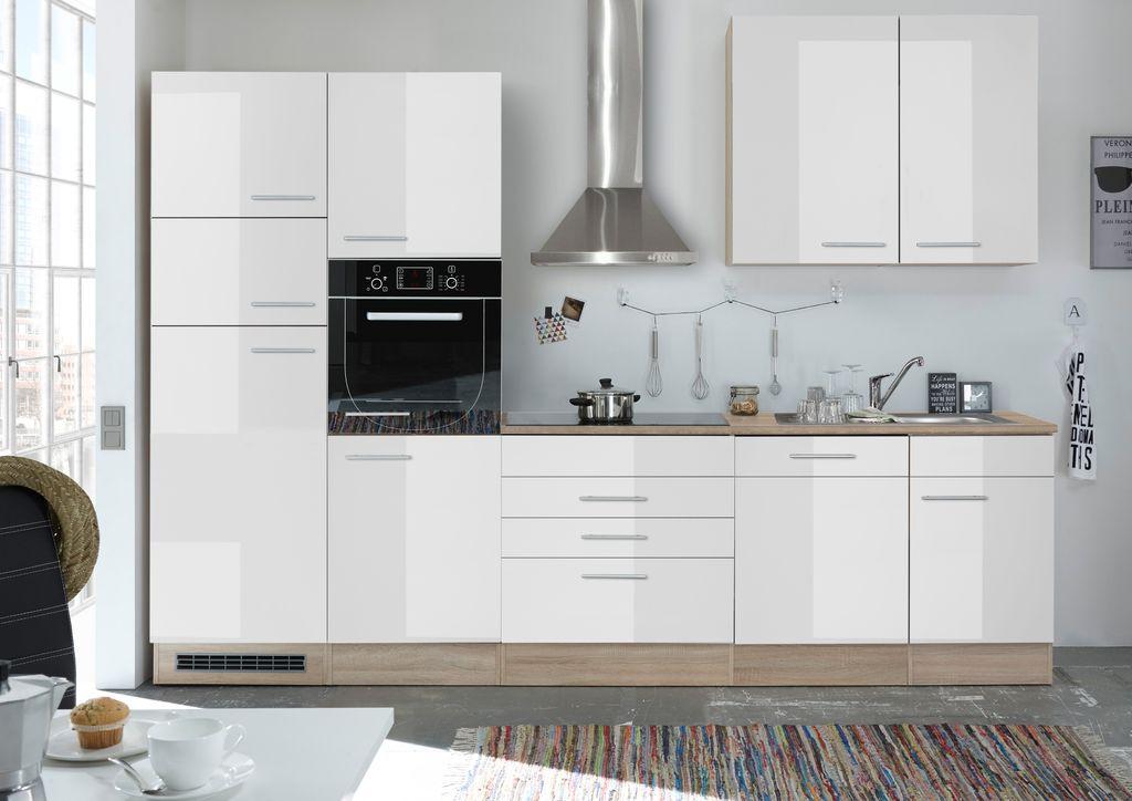 Leixlip Küchenzeile Küchenblock Eiche Sonoma Weiss | Günstig Möbel ...