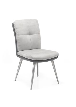 21739 Stuhl mit Edelstahlgestell, 2er Set Grau – Bild 1