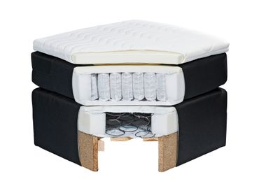 MADISON Boxspringbett 180x200cm Bett Komfortbett Doppelbett Ehebett Grau – Bild 3