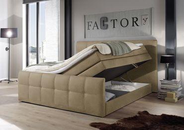SACRAMENTO B Boxspringbett 180x200cm Bett Komfortbett Doppelbett Ehebett Sand – Bild 3
