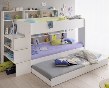 Bibop 53 - 3-tlg Kinderzimmer Set Weiß – Bild 2