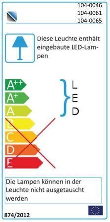 GENK Hängevitrine inkl. dimmbarer LED-Beleuchtung Eiche / Grau – Bild 4