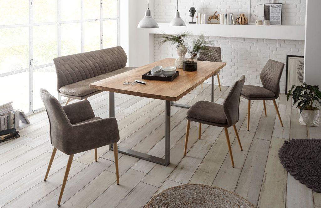 Essgruppe Stühle Massivholz Bank 22460 Esstisch 6tlg Tisch Odbrcxe
