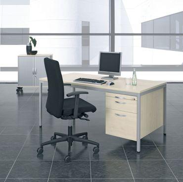 4 Fuß Eco Schreibtisch mit Hängecontainer, verschiedene Größen und Farben – Bild 1