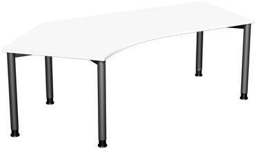 4 Fuß Flex Freiformtisch 135°, höhenverstellbar 216,6 x 80-113 cm, verschiedene Farben – Bild 17