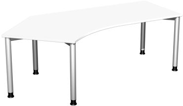 4 Fuß Flex Freiformtisch 135°, höhenverstellbar 216,6 x 80-113 cm, verschiedene Farben – Bild 3