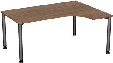 4 Fuß Flex Kompakt-Schreibtisch, 160 x 80-120 cm höhenverstellbar, verschiedene Farben – Bild 12