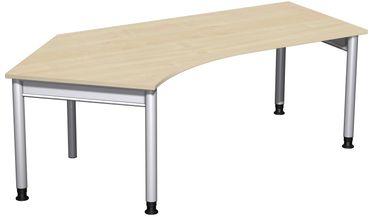 4 Fuß Pro Freiformtisch 135°, höhenverstellbar, 216,6 x 80-113 cm, verschiedene Farben – Bild 1