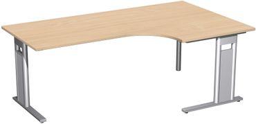 C-Fuß Pro Kompakt-Schreibtisch, verschiedene Größen und Farben – Bild 1