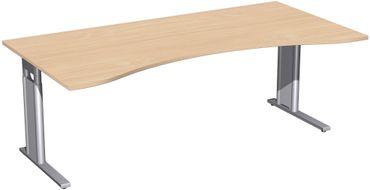 C-Fuß Pro Cockpit-Schreibtisch, höhenverstellbar, verschiedene Größen und Farben – Bild 16