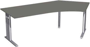 C-Fuß Pro Freiformtisch 135°, höhenverstellbar, 216,6 x 113 cm, verschiedene Farben – Bild 1