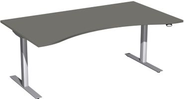 Elektro Flex Motor Cockpit-Schreibtisch, elektrisch höhenverstellbar, verschiedene Größen und Farben – Bild 11