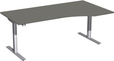 Elektro Flex Motor Freiformtisch, elektrisch höhenverstellbar, 180 x 100 cm, verschiedene Farben – Bild 1