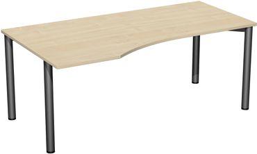 4 Fuß Flex Freiformtisch, 180 x 80/100 cm verschiedene Farben – Bild 1