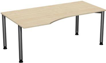 4 Fuß Flex Freiformtisch, höhenverstellbar, 180 x 80/100 cm verschiedene Farben – Bild 12