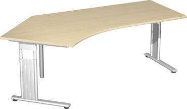 C-Fuß Flex Freiformtisch 135°, 216,6 x 80-113 cm, verschiedene Farben – Bild 8