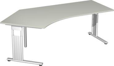 C-Fuß Flex Freiformtisch 135°, 216,6 x 80-113 cm, verschiedene Farben – Bild 6