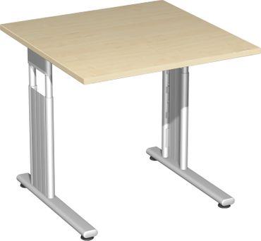 C-Fuß Flex Schreibtisch, gerade, höhenverstellbar, verschiedene Größen und Farben – Bild 9