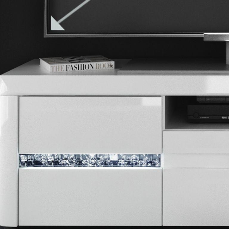 belfast 1 tv unterschrank hochglanz wei sch ner wohnen tv. Black Bedroom Furniture Sets. Home Design Ideas
