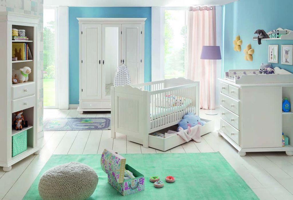 Bolton Baby 9-teilig Schlafzimmer-Set Fichte Altweiß | Günstig Möbel ...