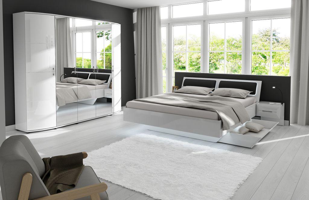 Blackpool Schubkasten für Bett Hochglanz Weiß