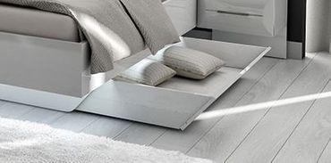Blackpool Schubkasten für Bett Hochglanz Weiß – Bild 1