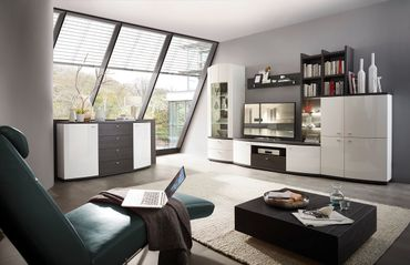 Bregenz 20 Sideboard Weiß / Anthrazit montiert – Bild 2
