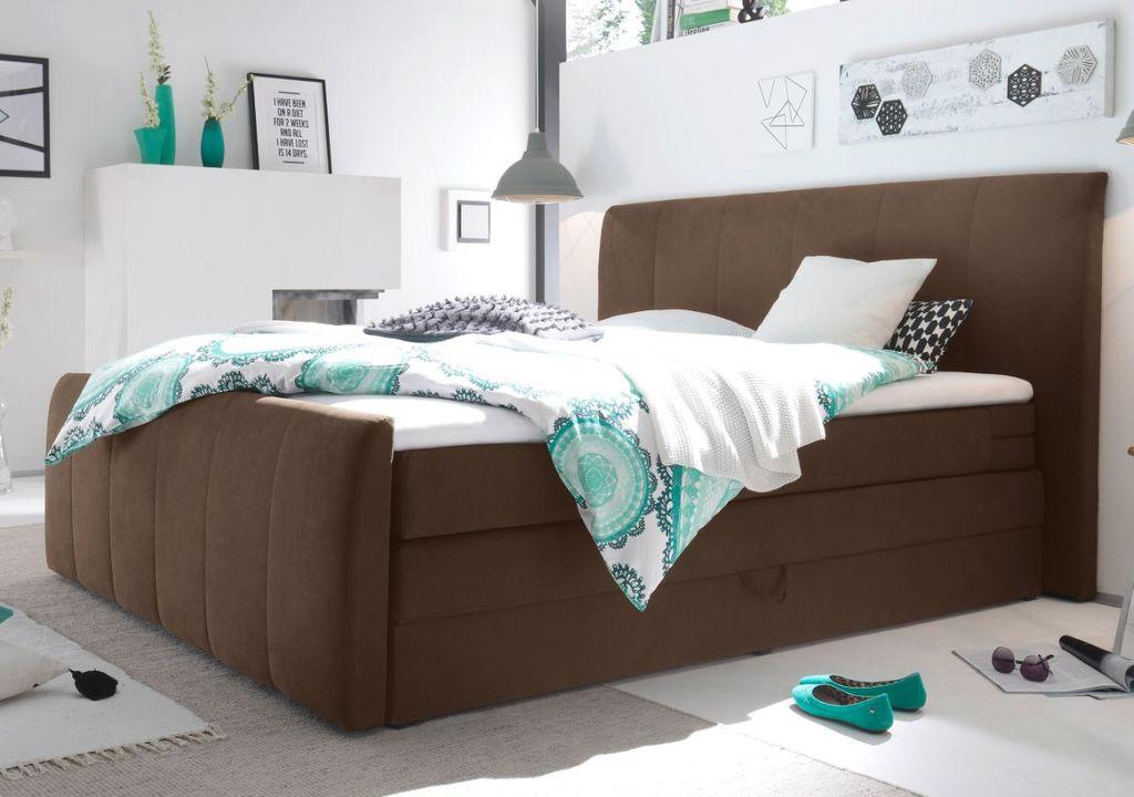 maryland 180x200 cm boxspringbett inkl bettkasten dunkelbraun g nstig m bel k chen. Black Bedroom Furniture Sets. Home Design Ideas