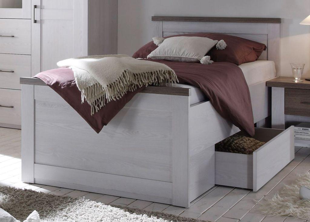 luca bett 100x200 cm jugendbett kinderbett seniorenbett. Black Bedroom Furniture Sets. Home Design Ideas