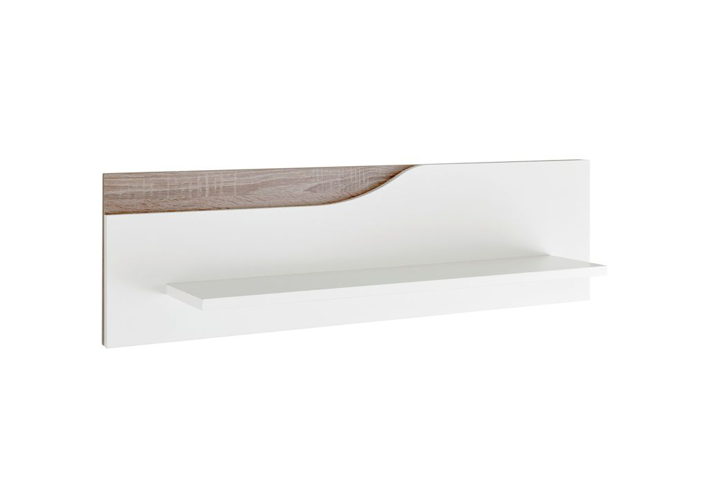 mara wandboard wei hochglanz abs eiche sonoma tr ffel kids teens wandboards. Black Bedroom Furniture Sets. Home Design Ideas