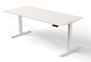 Move 3 Steh-/Sitztisch, gerade, elektrisch höhenverstellbar, verschiedene Größen, Weiß – Bild 2