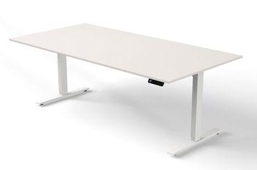 Move 3 Steh-/Sitztisch, gerade, elektrisch höhenverstellbar, verschiedene Größen, Weiß – Bild 3