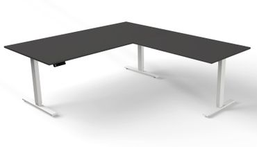 Move 3 Winkelkombination, elektrisch höhenverstellbar, verschiedene Größen, Anthrazit – Bild 3
