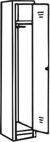 Stahl-Reihenspind, 30 cm, 1-türig Lichtgrau – Bild 4
